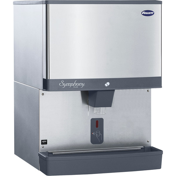 Follett 110CM-NI-SI Symphony Plus 110 lb. Manual Fill Countertop Ice Dispenser with SensorSAFE Dispensing