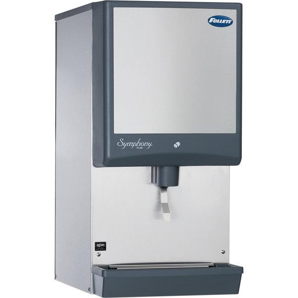 Follett 110CM-NI-LI Symphony Plus 110 lb. Manual Fill Countertop Ice Dispenser with Lever Dispensing Main Image 1
