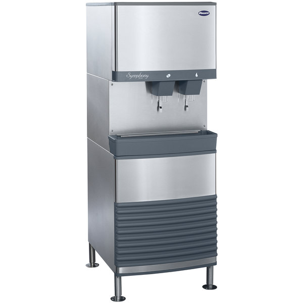 Follett 110FB425W-L 110 FB Series Freestanding Water Cooled Ice Maker and Water Dispenser - 90 lb. Storage Main Image 1