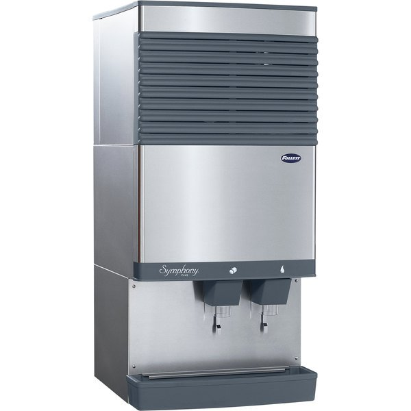 Follett 110CT425A-L Symphony Plus Countertop Air Cooled Ice Maker and Water Dispenser - 90 lb. Main Image 1