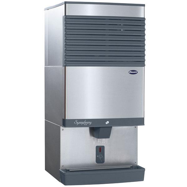 Follett 110CT425A-SI Symphony Plus Countertop Air Cooled Ice Maker / Dispenser - 90 lb. Main Image 1