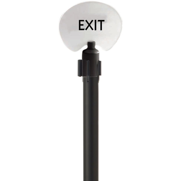 """Aarco FOS-2 Oval """"Exit"""" Stanchion Sign"""