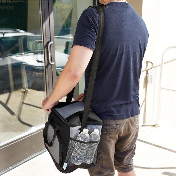 """Choice Insulated Leak Proof Cooler Bag / Soft Cooler, Black 12"""" x 9"""" x 11 1/2"""", with Adjustable Shoulder Strap"""