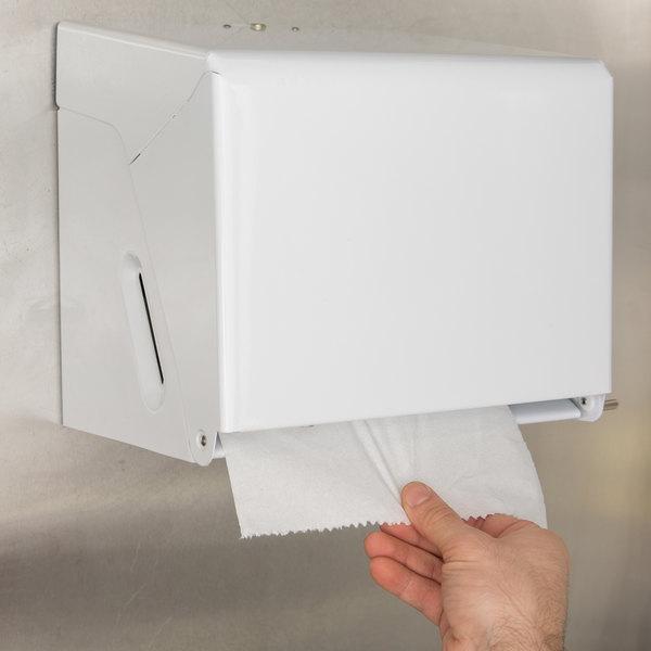 San Jamar T800WH Metal Crank Roll Towel Dispenser