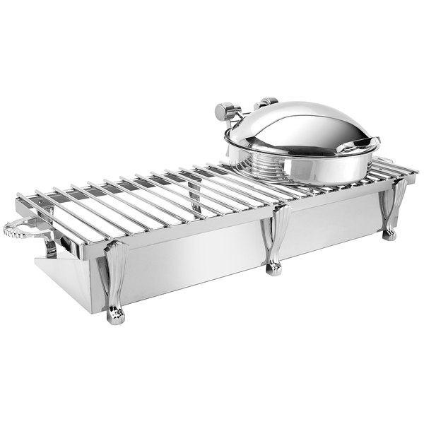 """Eastern Tabletop 3269G Heavy Duty 38"""" x 13"""" Stainless Steel Grill Stand with Removable Grill Top Main Image 1"""