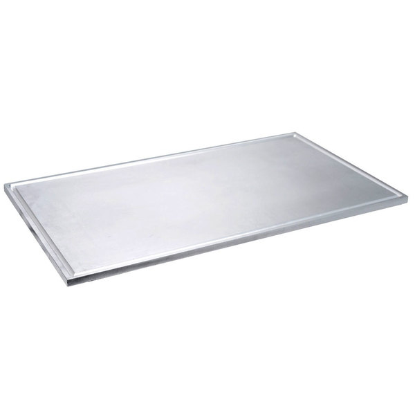 """Eastern Tabletop 3258A/T 41 1/2"""" Aluminum Griddle Top with Gravy Drip Catch Lane"""