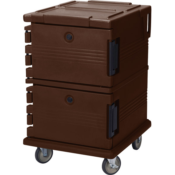 Cambro UPC1200131 Dark Brown Camcart Ultra Pan Carrier - Front Load