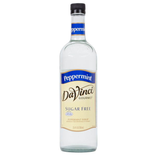 DaVinci Gourmet 750 mL Sugar Free Peppermint Flavoring Syrup