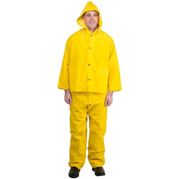 Yellow 3 Piece Rainsuit - Large Main Image 1