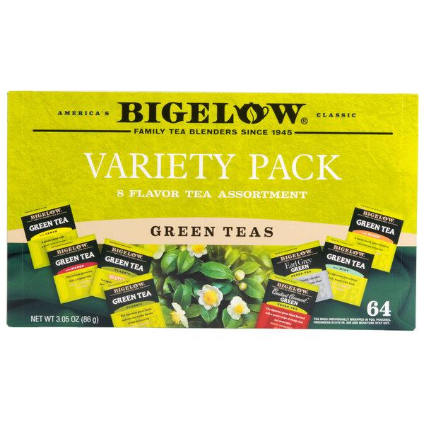Bigelow Green Tea Bag Variety Tray Pack - 64/Box Main Image 1