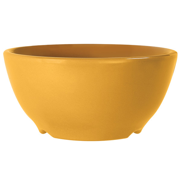 GET B-45-TY Diamond Mardi Gras 10 oz. Tropical Yellow Melamine Bowl - 24/Case Main Image 1