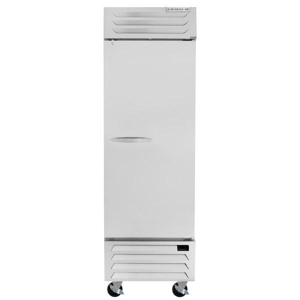 """Beverage-Air RB23HC-1S 27"""" Vista Series One Section Solid Door Reach in Refrigerator - 23 Cu. Ft. Main Image 1"""