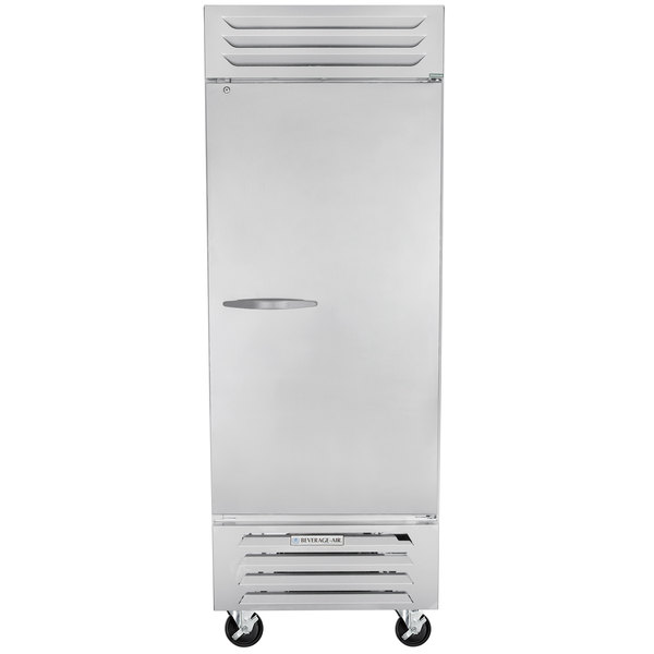 """Beverage-Air RB27HC-1S 30"""" Vista Series One Section Solid Door Reach in Refrigerator - 27 Cu. Ft. Main Image 1"""