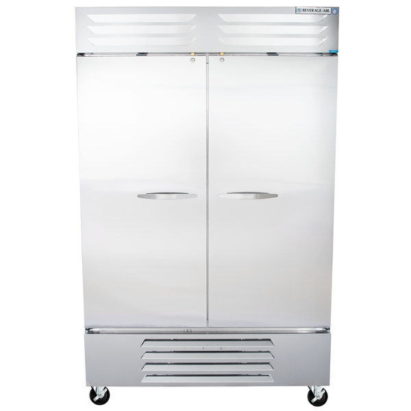 "Beverage Air FB49-1S 52"" Vista Series Two Section Solid Door Reach in Freezer - 49 cu. ft."