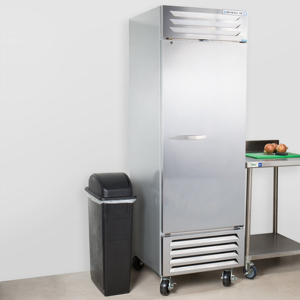 "Beverage-Air FB23-1S 24"" Vista Series One Section Solid Door Reach in Freezer - 23 cu. ft."