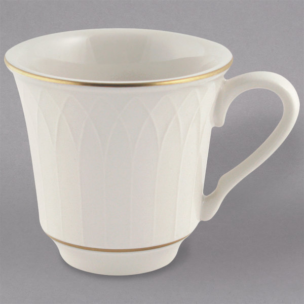 Homer Laughlin 1420-0331 Westminster Gothic Ivory (American White) 7.5 oz. China Cup - 36/Case