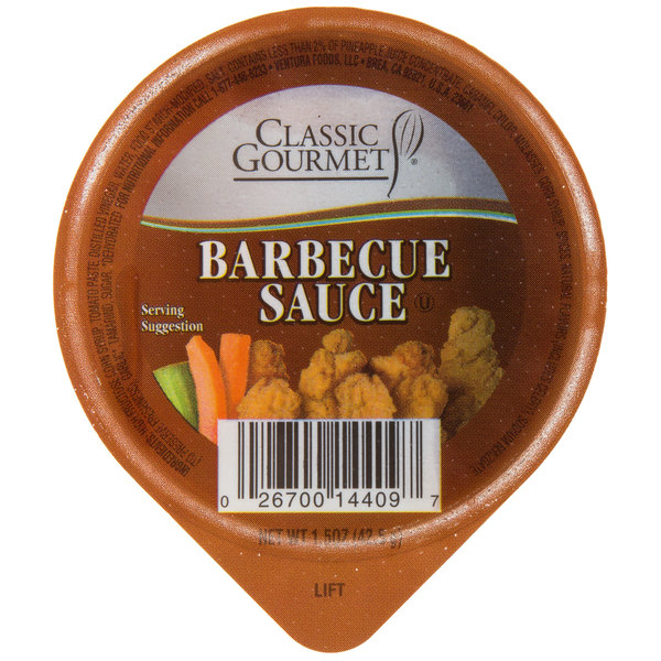 Classic Gourmet BBQ Sauce 1.5 oz. Portion Cup - 96/Case