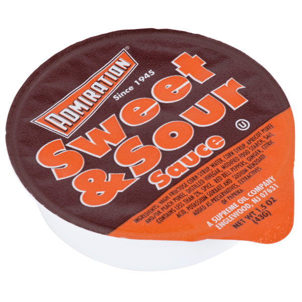 Admiration 1.5 oz. Sweet and Sour Sauce Portion Cups  - 100/Case