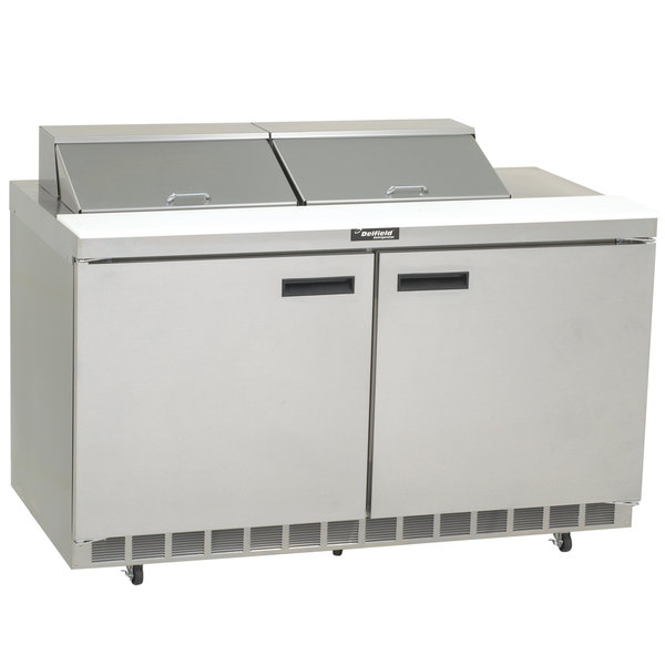 "Delfield 4460N-12 60"" 2 Door Refrigerated Sandwich Prep Table"