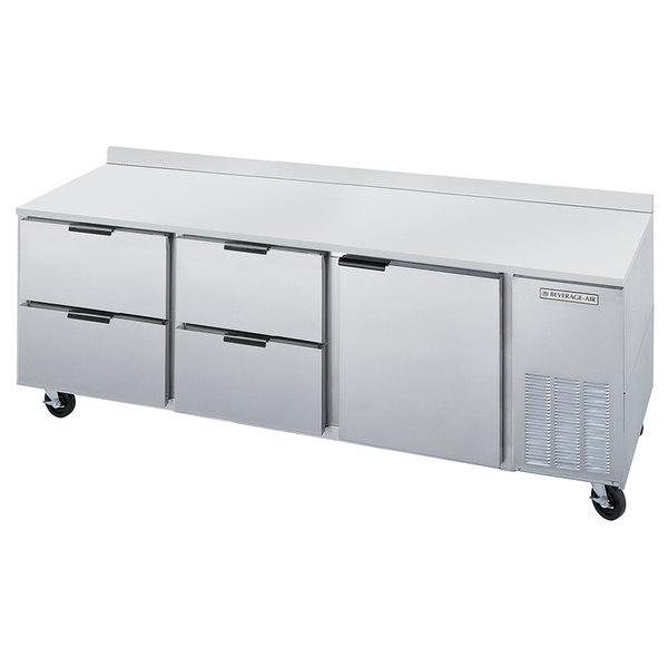 "Beverage-Air WTRD72AHC-4 72"" Compact Worktop Refrigerator - 1 Door / 4 Drawers"