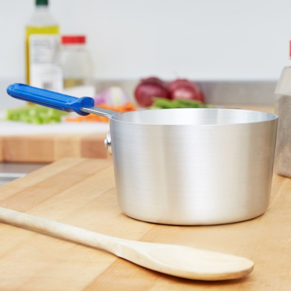 Vollrath 434112 Wear-Ever 1.5 Qt. Tapered Sauce Pan with Natural Finish and Cool Handle Main Image 2