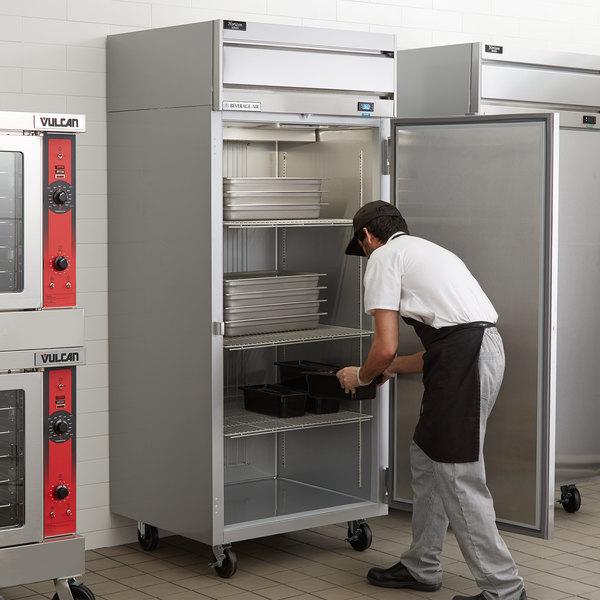 """Beverage-Air HF1W-1S Horizon Series 35"""" Solid Door Wide Reach-In Freezer"""