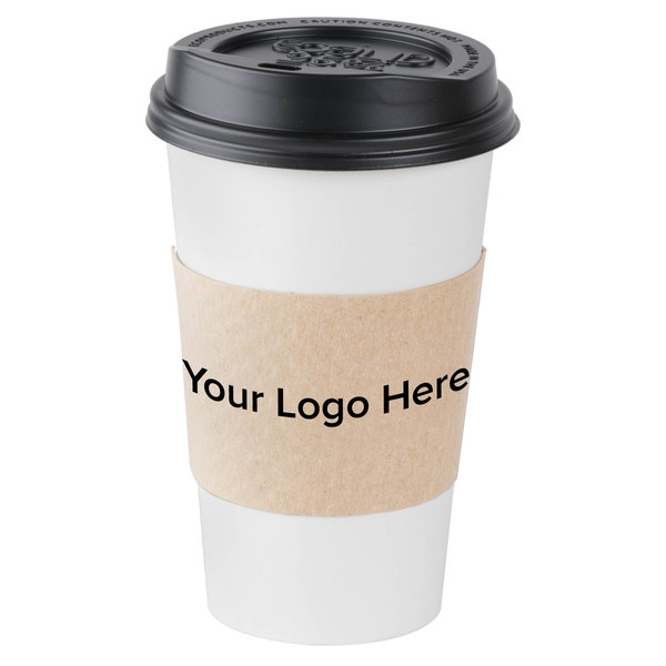 Natural Kraft Customizable Coffee Cup Sleeve 1800 Case Main Picture Image Preview