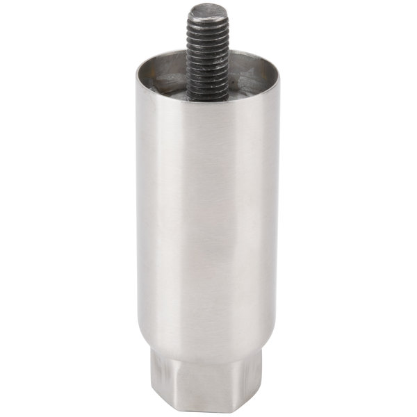 "Avantco EGLEG Stainless Steel Adjustable 3 1/2"" - 5 1/2"" Leg for EG16N, EG24N, EG30N, and CO46 Main Image 1"