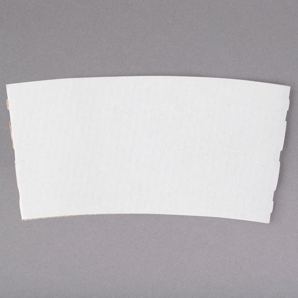 12-24 oz. White Customizable Coffee Cup Sleeve - 1800/Case