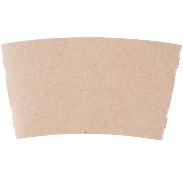 10 oz. Natural Kraft Customizable Coffee Cup Sleeve - 1800/Case Main Image 1