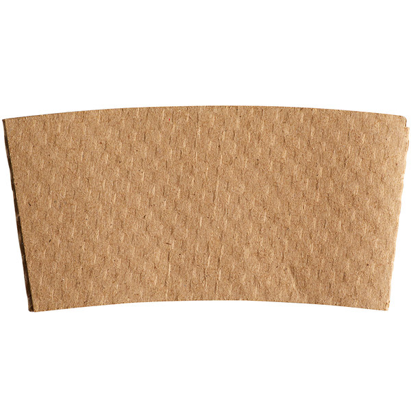 10-24 oz. Natural Kraft Customizable Embossed Coffee Cup Sleeve - 1800/Case Main Image 1