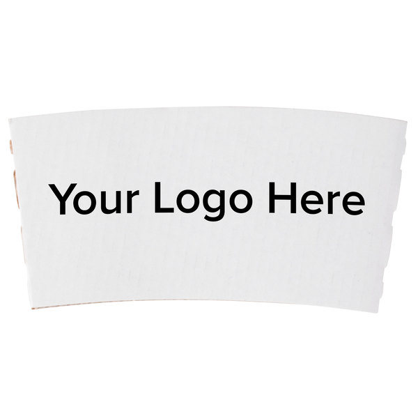 10 oz. White Customizable Coffee Cup Sleeve - 1800/Case