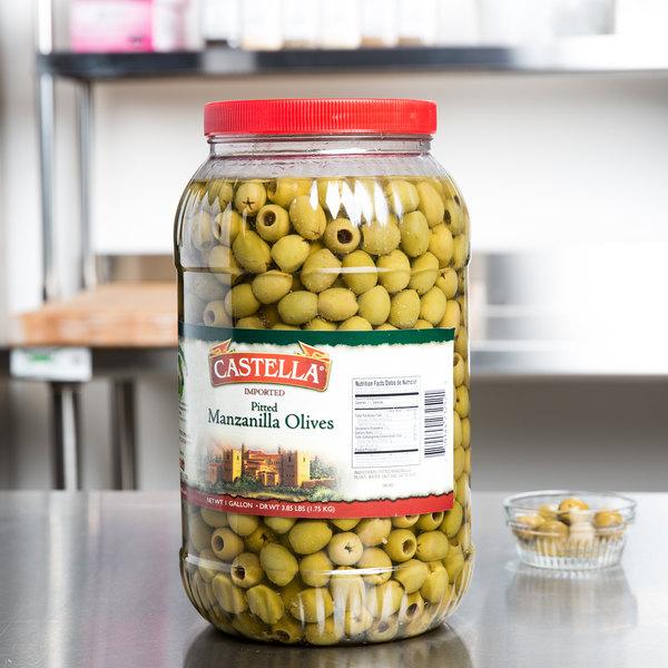 Castella Manzanilla Pitted Olives - 1 Gallon