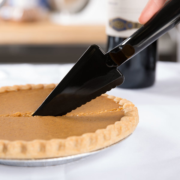 "Visions 10"" Black Disposable Plastic Pie Server - 72/Case"