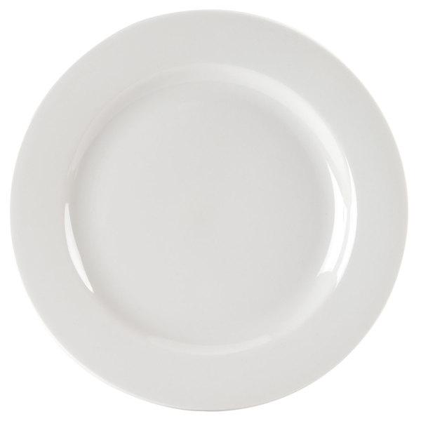 "Homer Laughlin 6366000 Pristine 8 3/8"" Bright White China Plate - 36/Case"