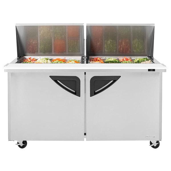 "Turbo Air TST-60SD-24 60"" 2 Door Mega Top Refrigerated Sandwich Prep Table"