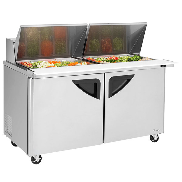 Turbo Air TSTSDN Door Mega Top Refrigerated Sandwich - Cold sandwich prep table