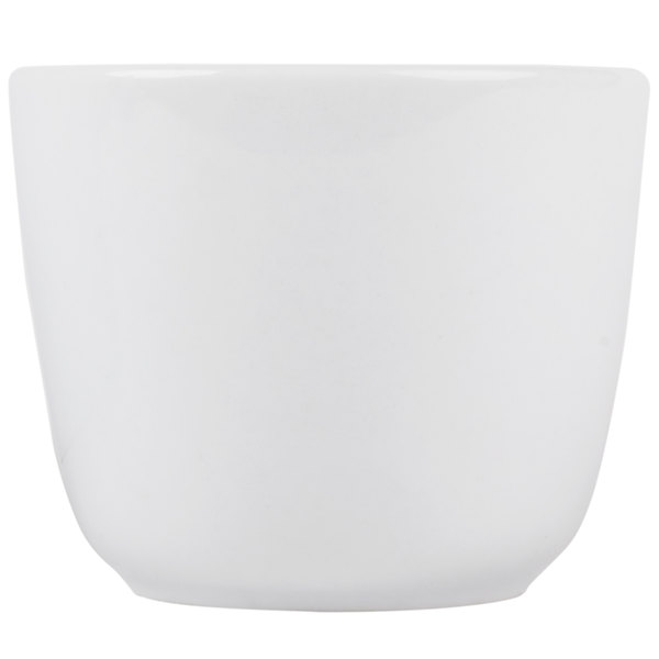CAC CTC-45-P Super White 4.5 oz. Clinton Rolled Edge Chinese Tea Cup - 36/Case