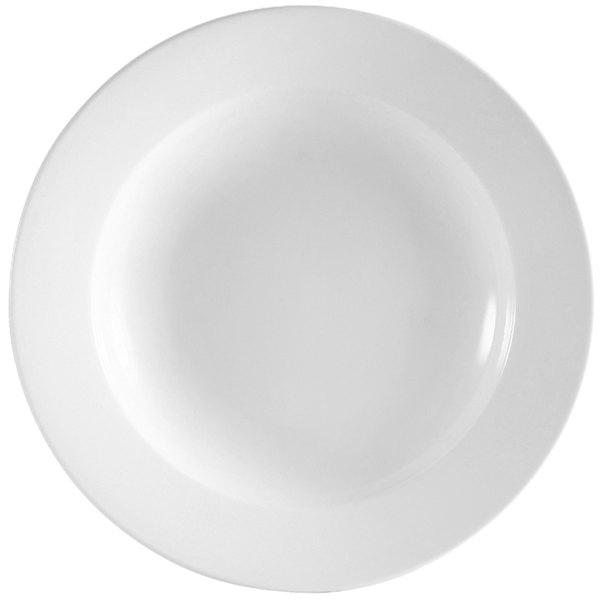 CAC RCN-115 Super White 24 oz. Clinton Rolled Edge Pasta Bowl - 12/Case