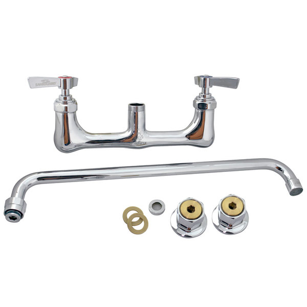 """All Points 56-1553 Wall Mounted Heavy Duty Faucet; 8"""" Centers; 16"""" Nozzle"""