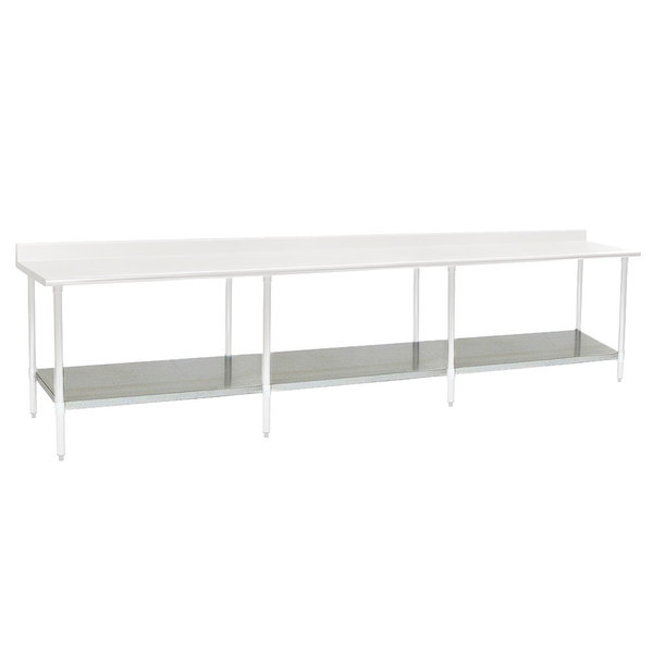 "Eagle Group 24132GADJUS Adjustable Galvanized Work Table Undershelf for 24"" x 132"" Tables Main Image 1"