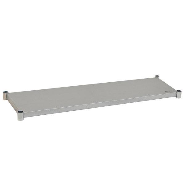 "Eagle Group 2472GADJUS Adjustable Galvanized Work Table Undershelf for 24"" x 72"" Tables Main Image 1"