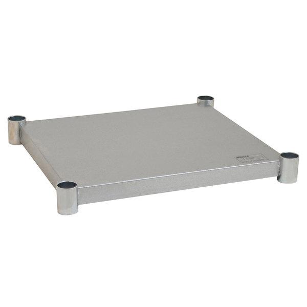 "Eagle Group 2424GADJUS Adjustable Galvanized Work Table Undershelf for 24"" x 24"" Tables"