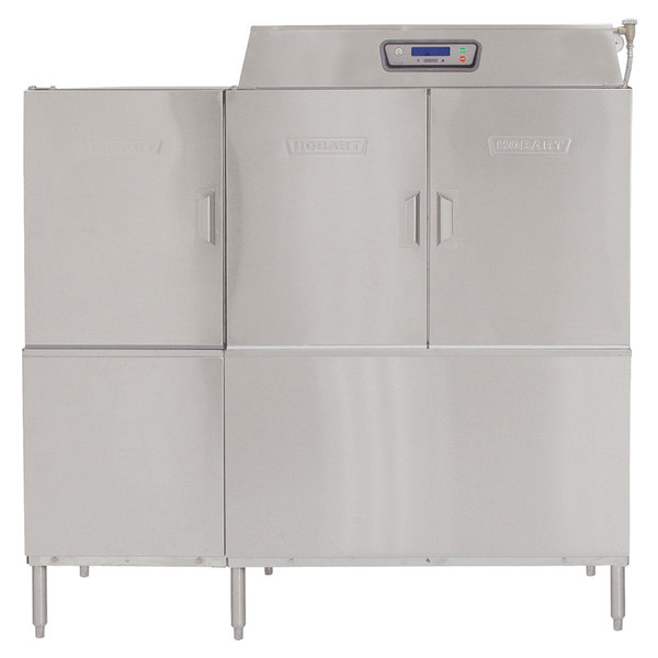 Hobart CLPS66EN-BAS7 Conveyor High / Low Temperature Dishwasher with 30 kW Booster Heater and Power Scrapper - Right to Left Operation