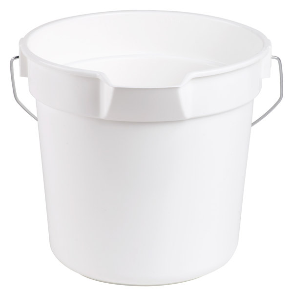 Continental 8110WH Huskee 10 Qt. White Round Utility Bucket