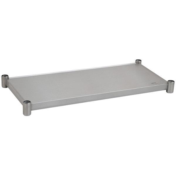 "Eagle Group 2448SADJUS-18/4 Adjustable Stainless Steel Work Table Undershelf for 24"" x 48"" Tables"