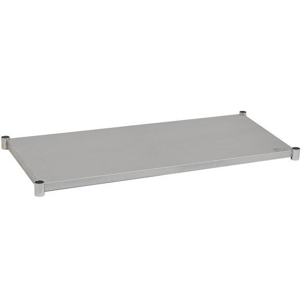 "Eagle Group 3072SADJUS-18/3 Adjustable Stainless Steel Work Table Undershelf for 30"" x 72"" Tables"