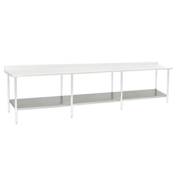 "Eagle Group 30144SADJUS-18/4 Adjustable Stainless Steel Work Table Undershelf for 30"" x 144"" Tables"