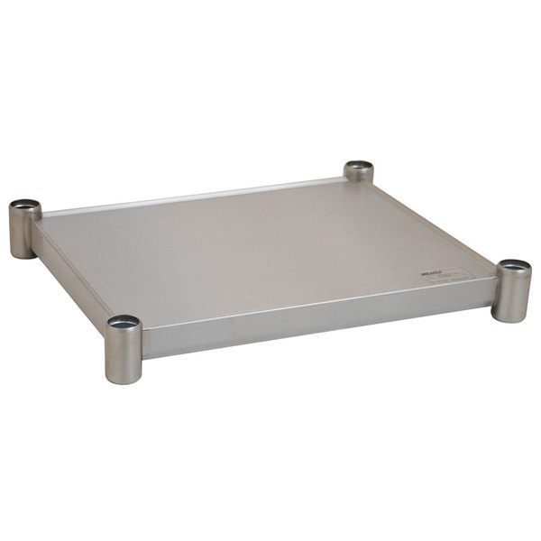 "Eagle Group 2430SADJUS-18/4 Adjustable Stainless Steel Work Table Undershelf for 24"" x 30"" Tables"