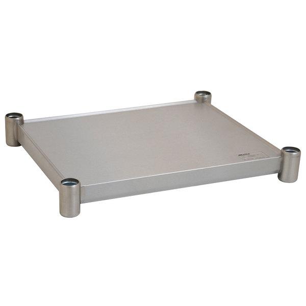 "Eagle Group 2424SADJUS-18/4 Adjustable Stainless Steel Work Table Undershelf for 24"" x 24"" Tables"